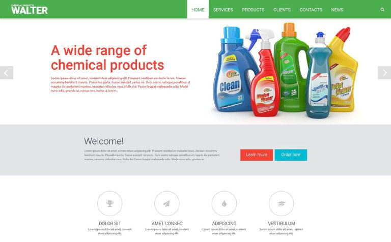 Chemical Products Website Template