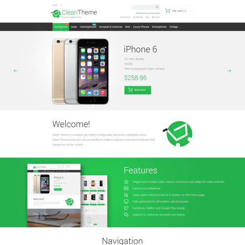 Clean Theme - Responsive Magento Template