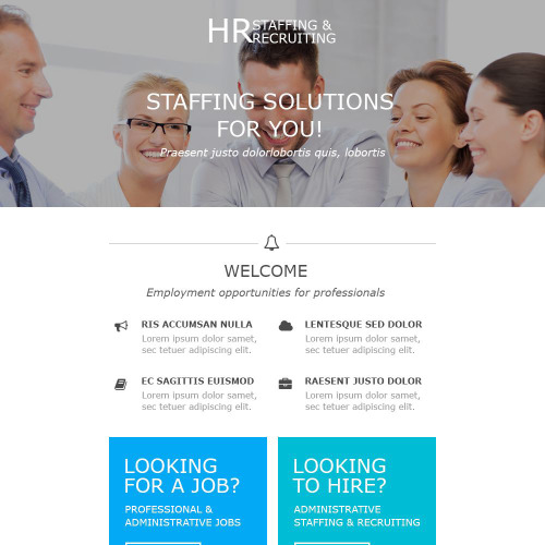 HR Staffing & Recruting - Responsive Newsletter Template