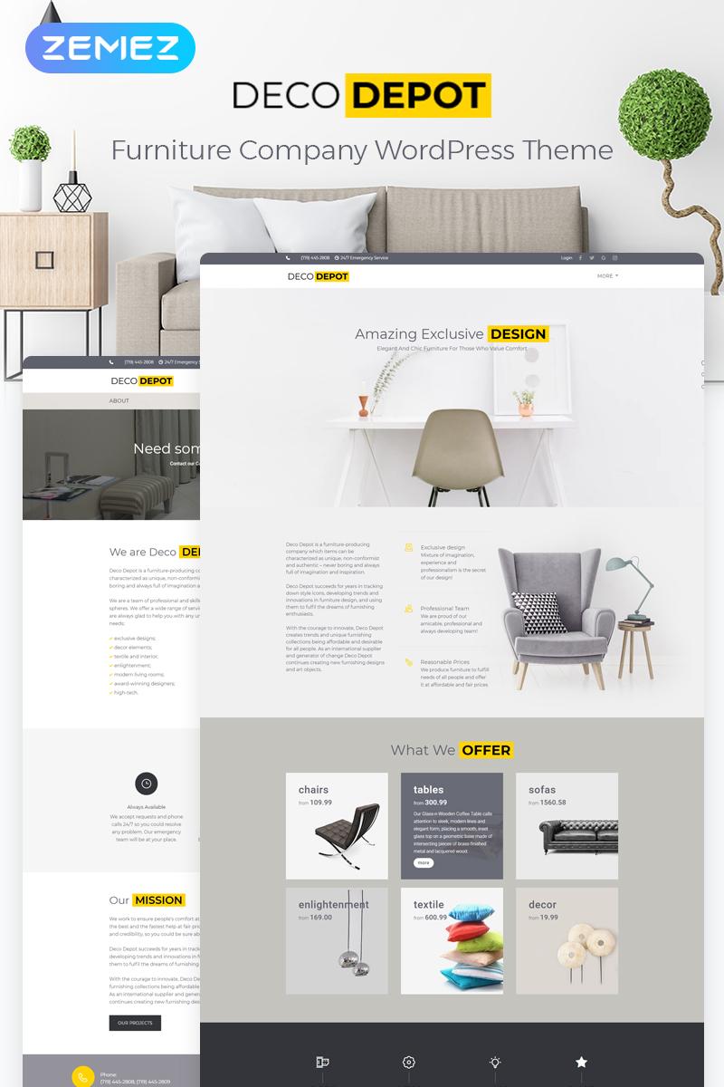 """""""Entreprise de mobilier"""" thème WordPress adaptatif #55460"""