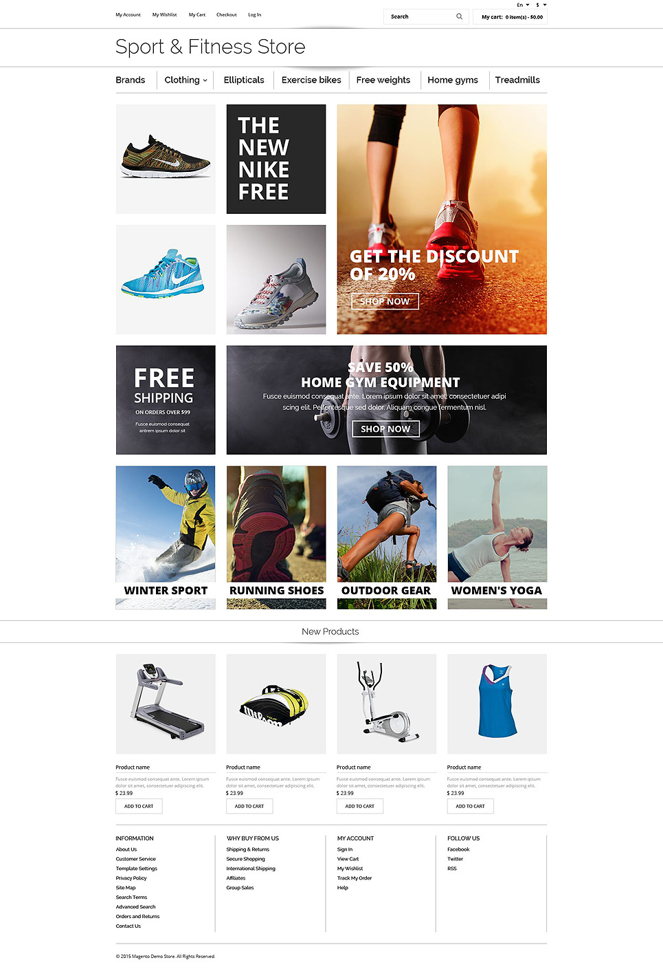 Fitness OsCommerce Template New Screenshots BIG