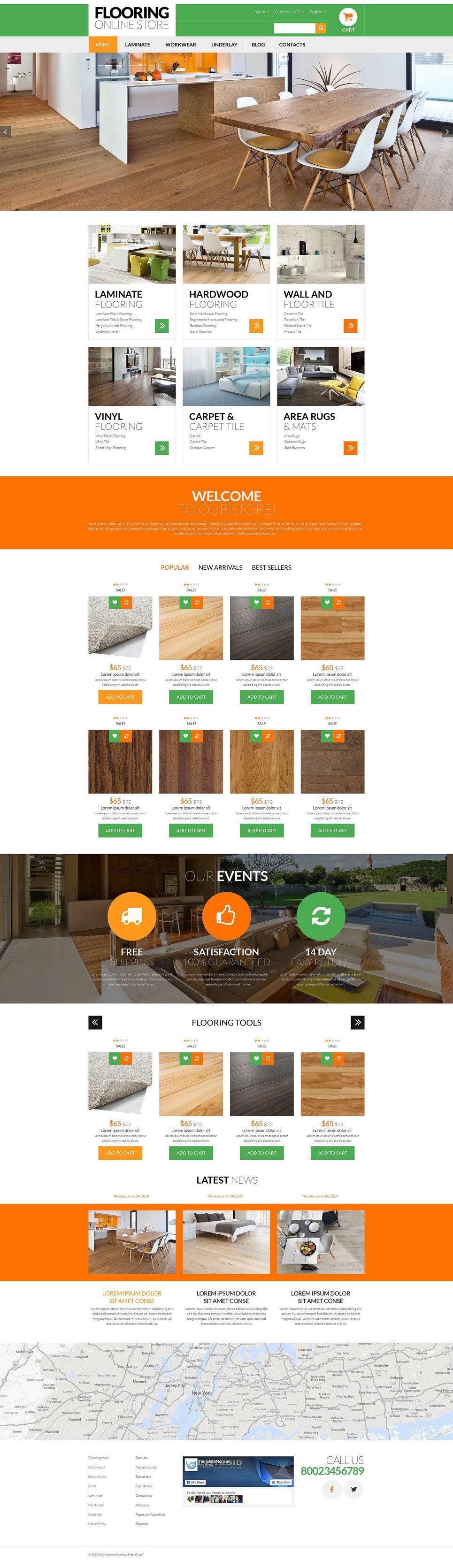 Flooring Online Store PrestaShop Theme New Screenshots BIG