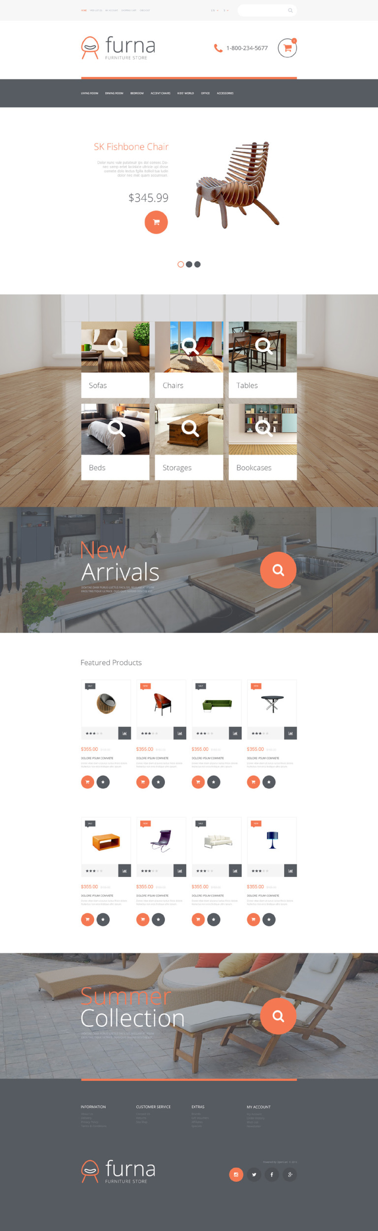 Furna OpenCart Template New Screenshots BIG