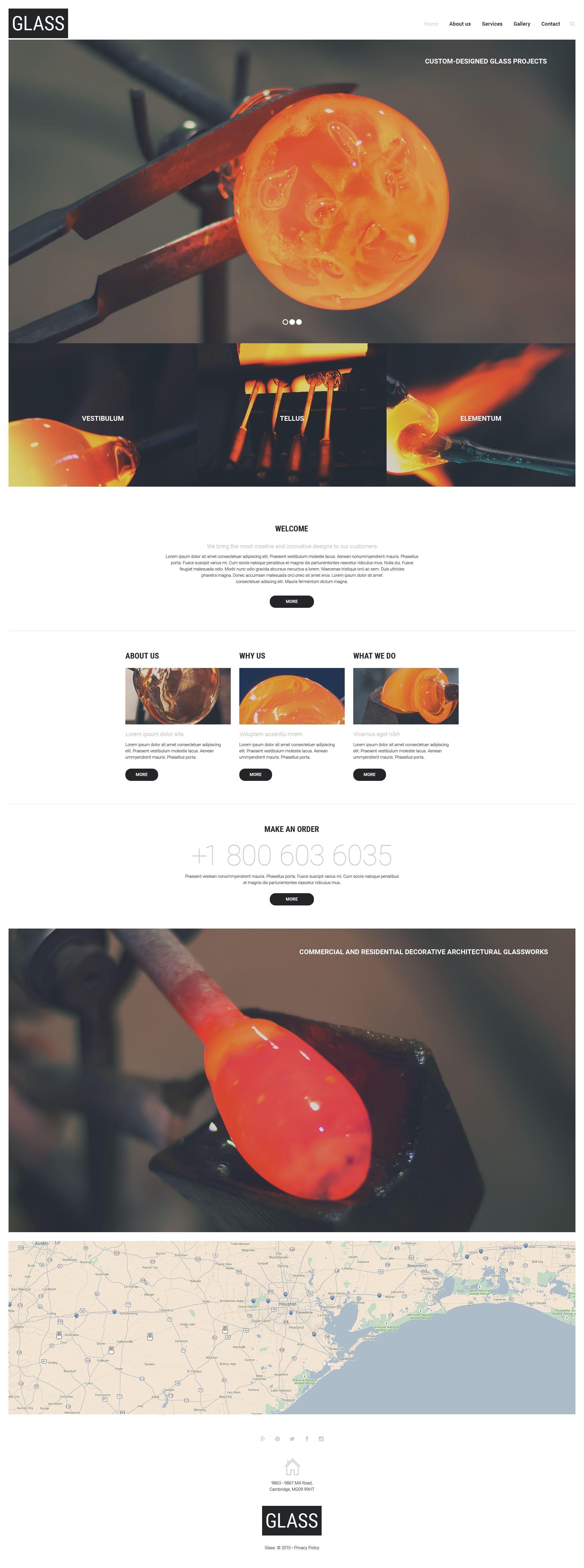 Glass Website Template - screenshot