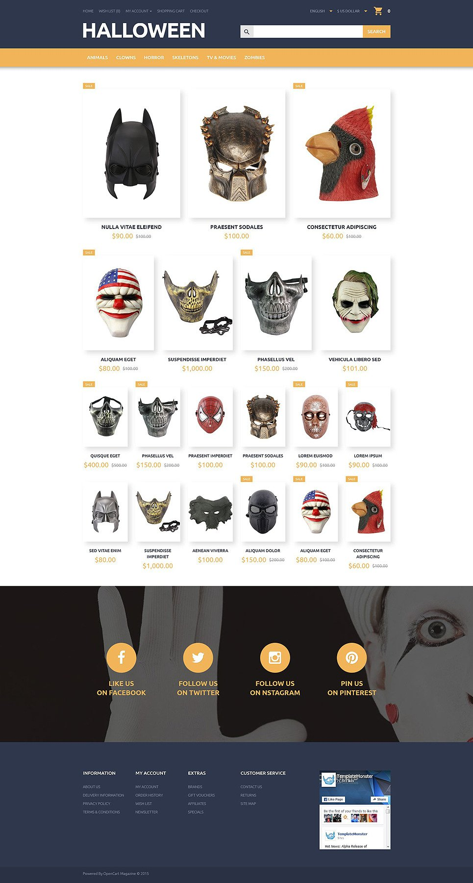 Halloween OpenCart Template New Screenshots BIG