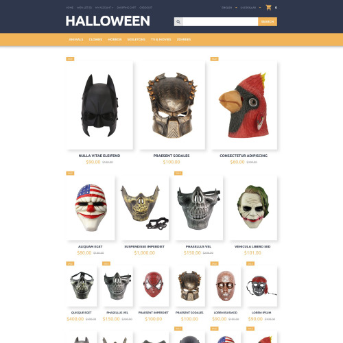 Halloween - OpenCart Template based on Bootstrap