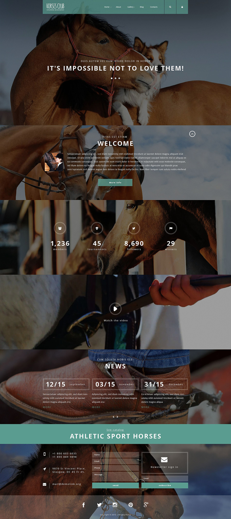 Horses Club Joomla Template New Screenshots BIG