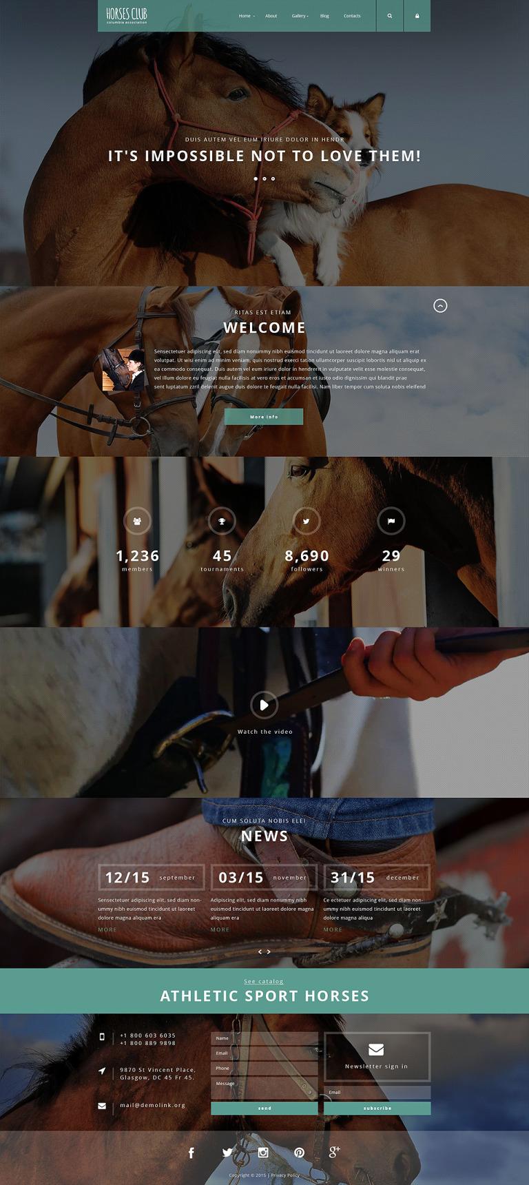 Horses Club Joomla Template New Screenshots BIG