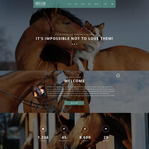 Horses Club - Joomla! Template based on Bootstrap
