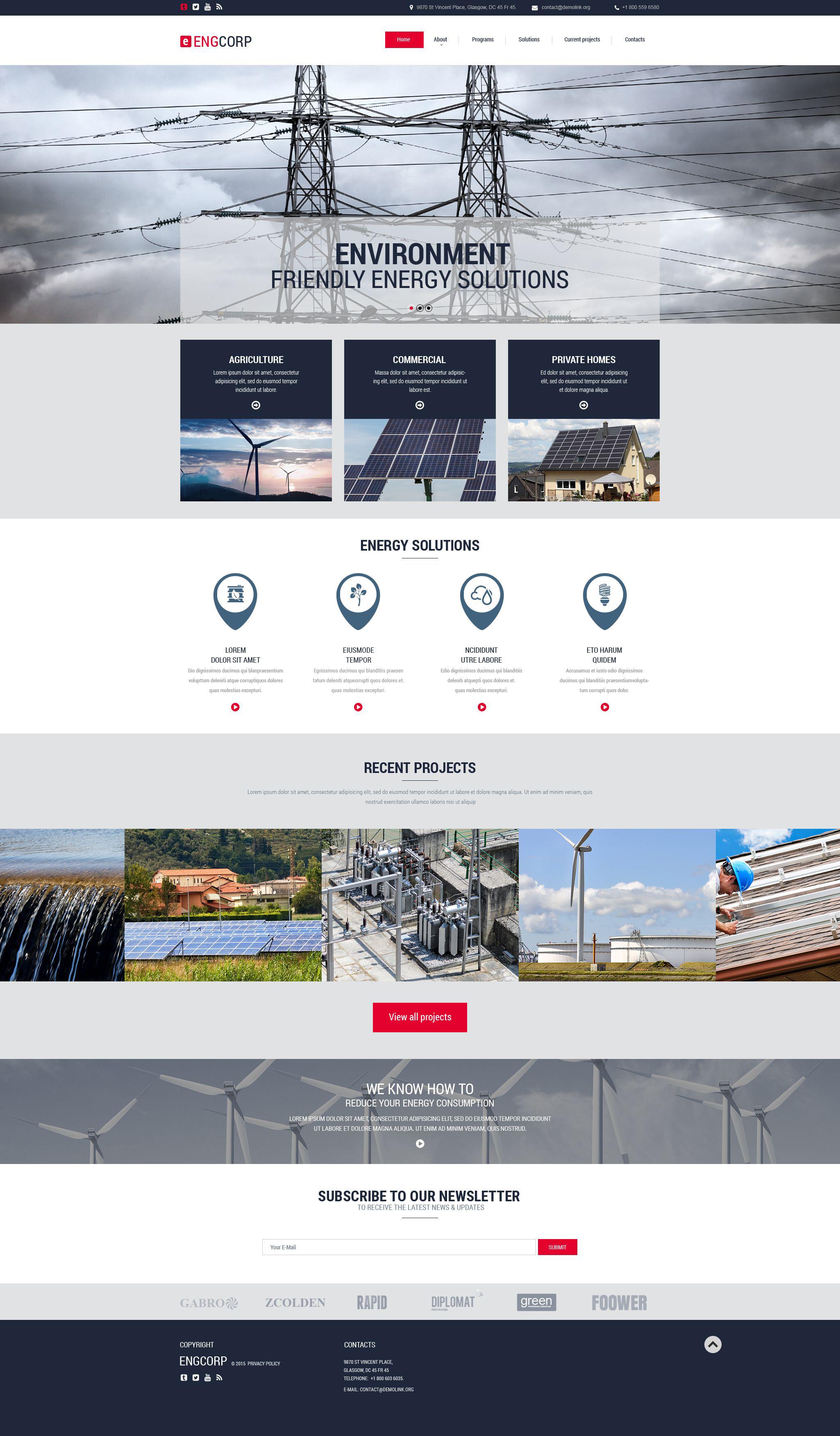 Industrial Responsive Website Template - screenshot
