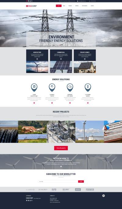 Industrial Responsive Website Template #55422