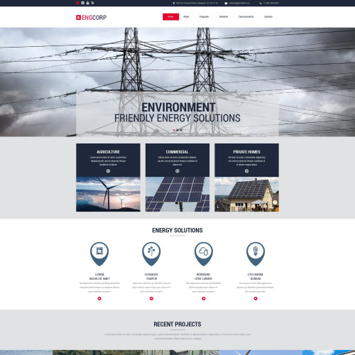 ENGCORP - Website Template based on Bootstrap
