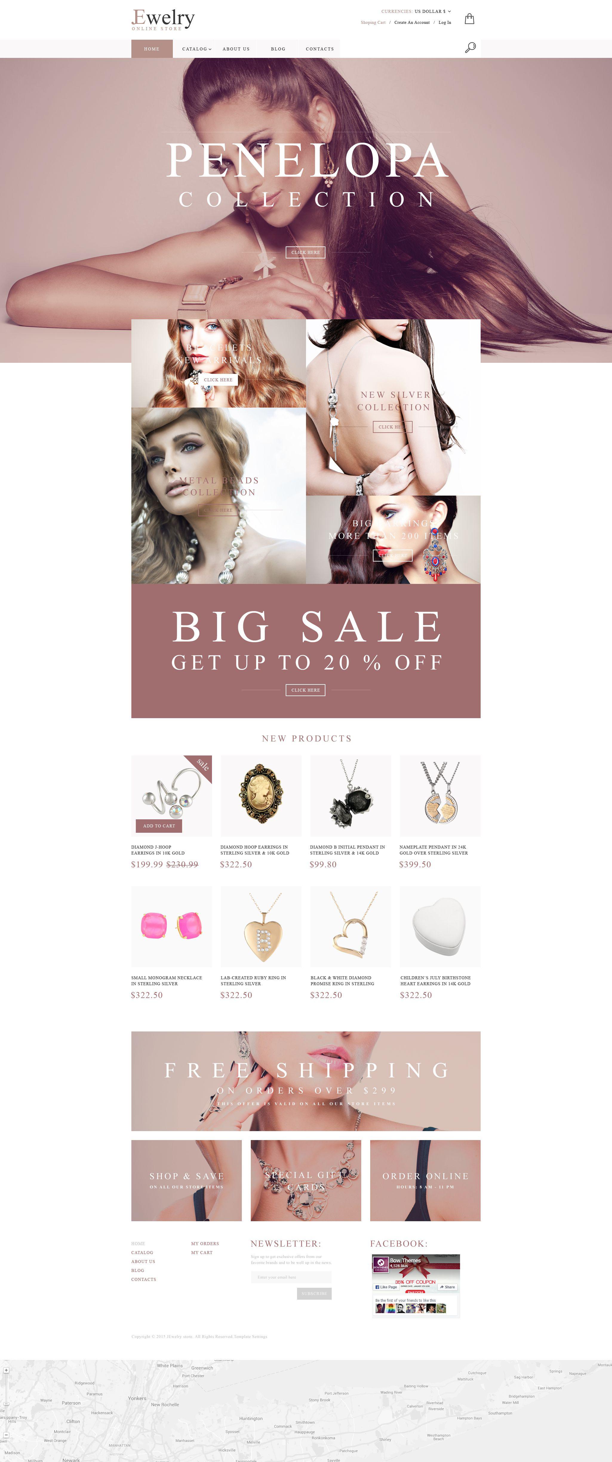 Jewelry House VirtueMart Template - screenshot