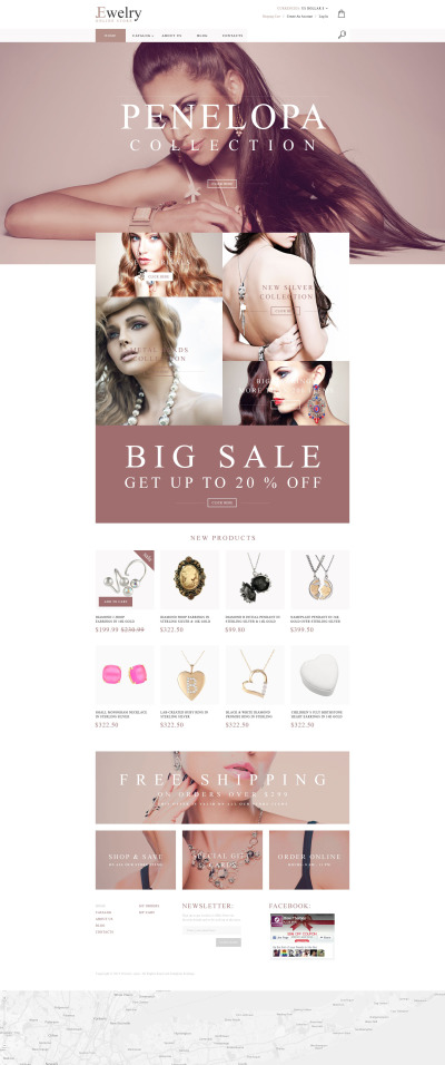 Jewelry House VirtueMart Template #55430