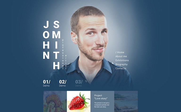 John Smith Website Template