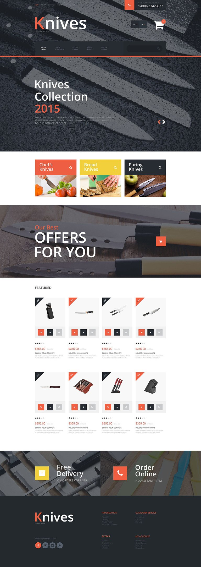 Knives OpenCart Template New Screenshots BIG