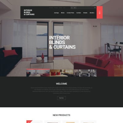 Responsives Magento Theme für Fensterdekoration Homepage