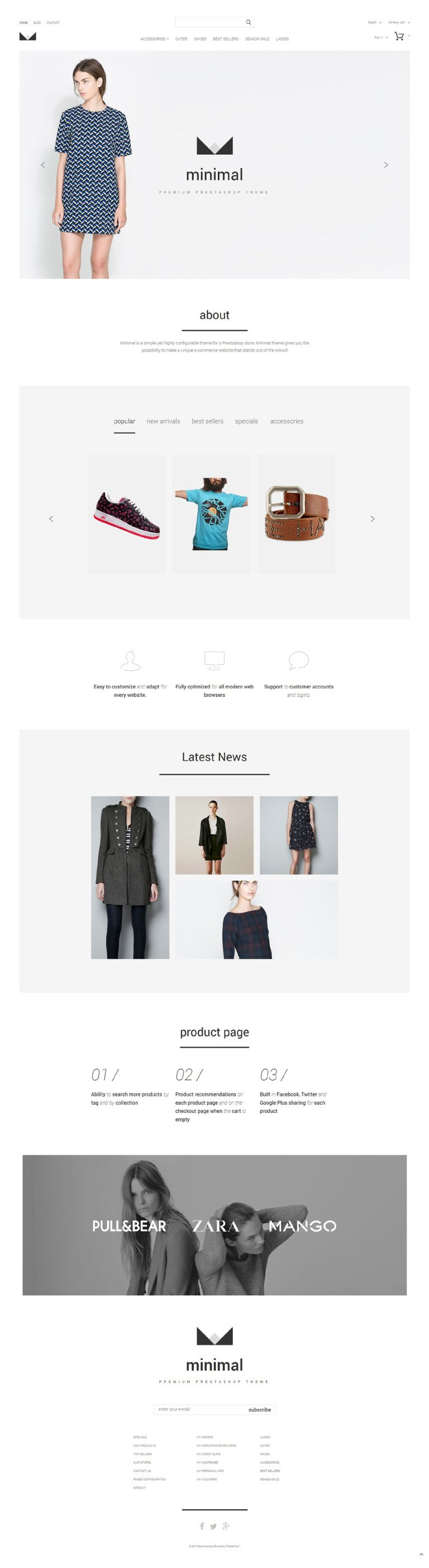 Minimal PrestaShop Theme New Screenshots BIG
