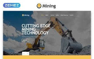 Mining - Industrial Responsive Creative HTML Website Template
