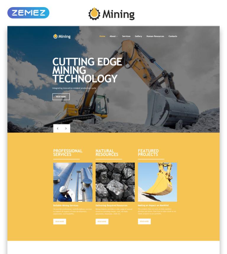 Mining - Responsive HTML Template