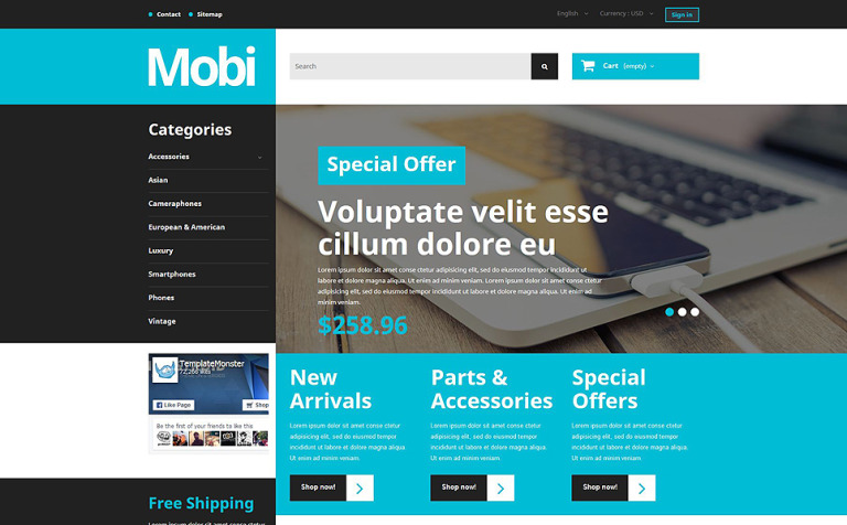 Mobi PrestaShop Theme