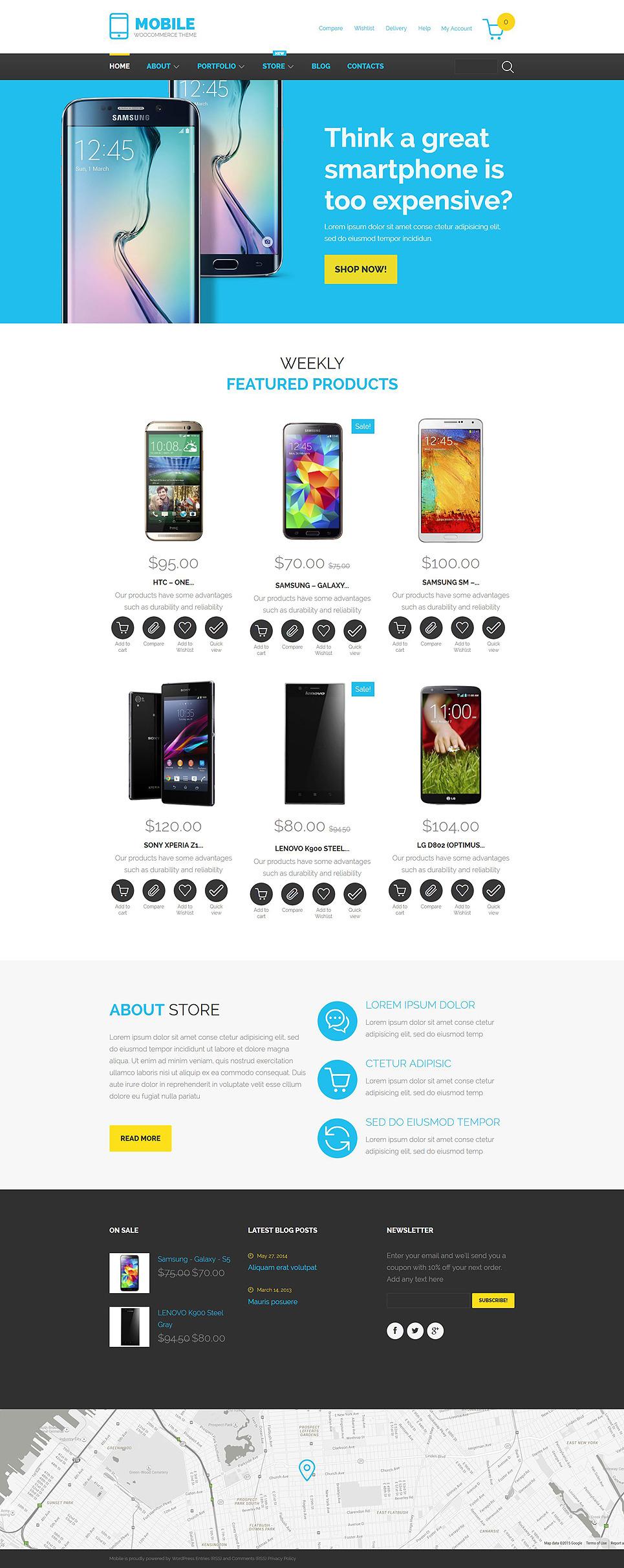 Mobile Technology WooCommerce Theme New Screenshots BIG