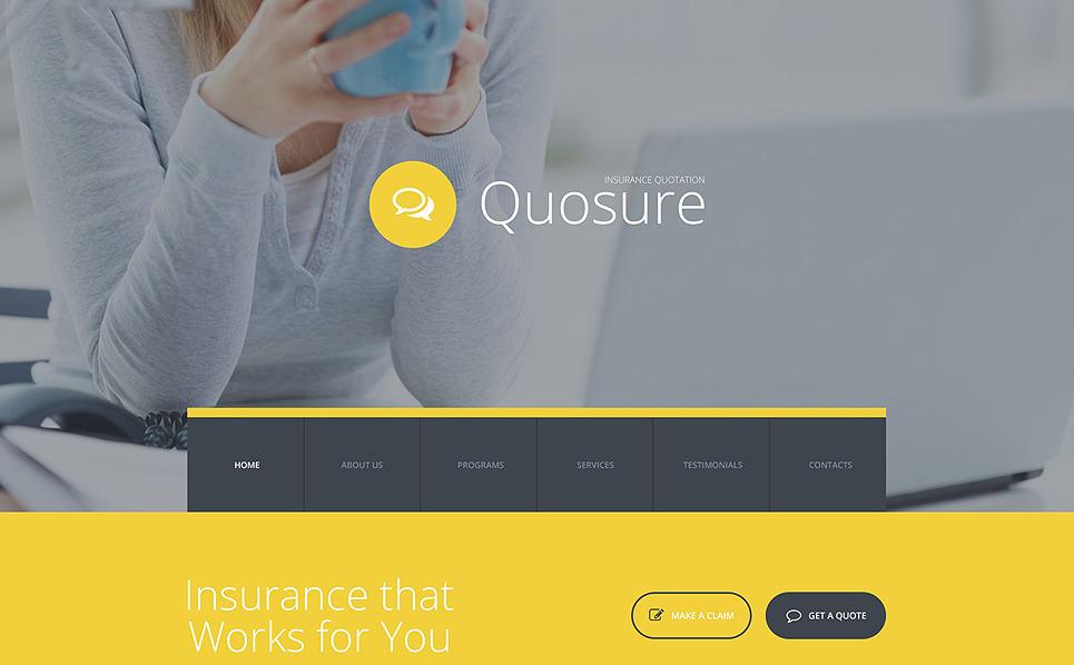 Modèle Web adaptatif  pour site de société d'assurance New Screenshots BIG