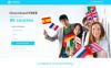Modello di Landing Page Responsive #55418 per Un Sito di Scuola Linguistica New Screenshots BIG