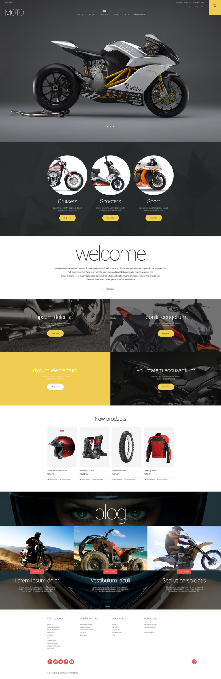 Motorsports Store Magento Theme New Screenshots BIG