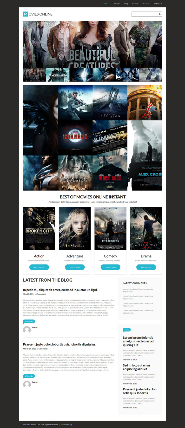 Movie Responsive WordPress Theme New Screenshots BIG