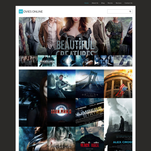 Movies Online - WordPress Template based on Bootstrap