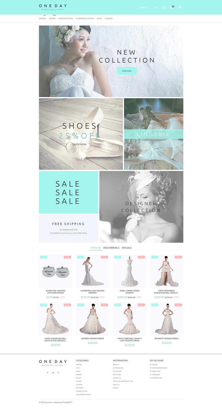 One Day PrestaShop Theme New Screenshots BIG