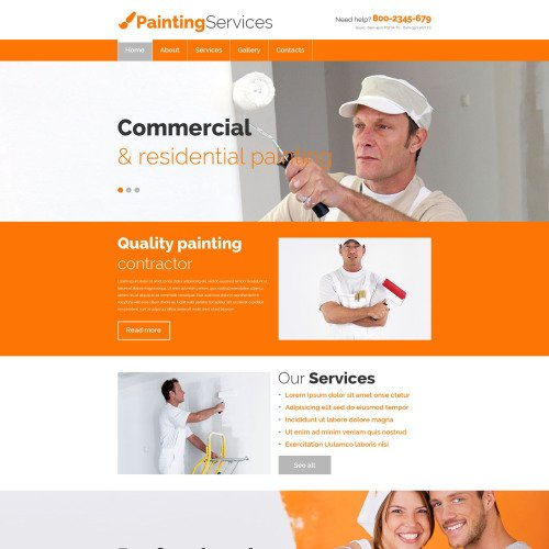 Painting Services - Website Template based on Bootstrap