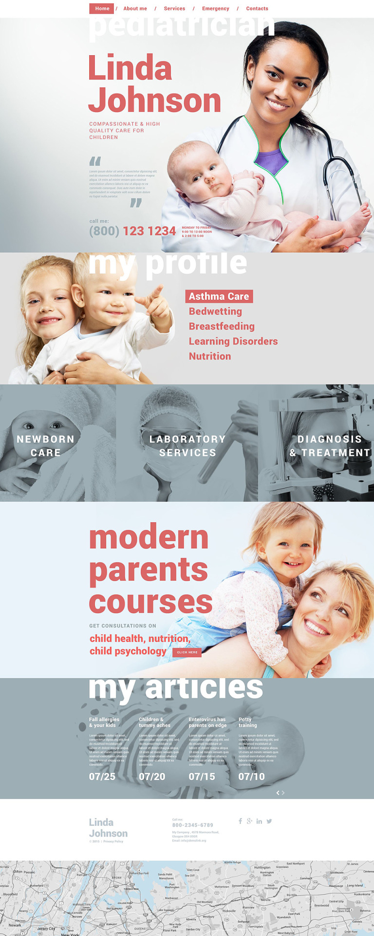 Pediatrician Website Template New Screenshots BIG