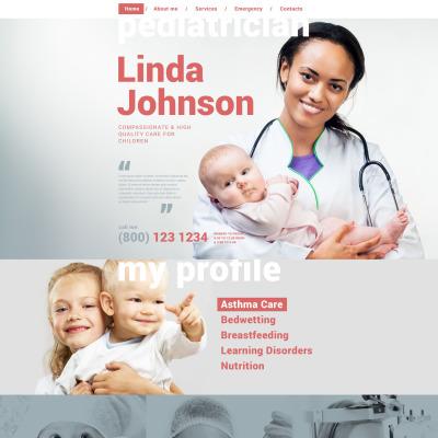 Pediatrician Website Template - Asthma brochure template