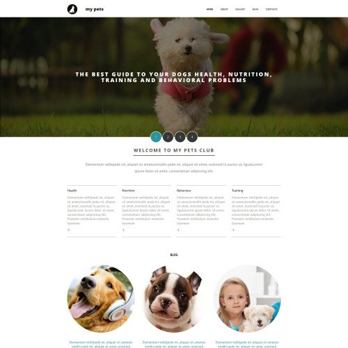 My Pets - MotoCMS 3 Template based on Bootstrap