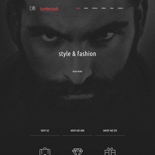 Lumberjack - Responsive Photo Gallery Template