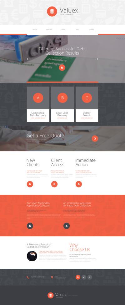 Plantilla Web #55441 para Sitio de  para Sitio de Negocio y Servicios