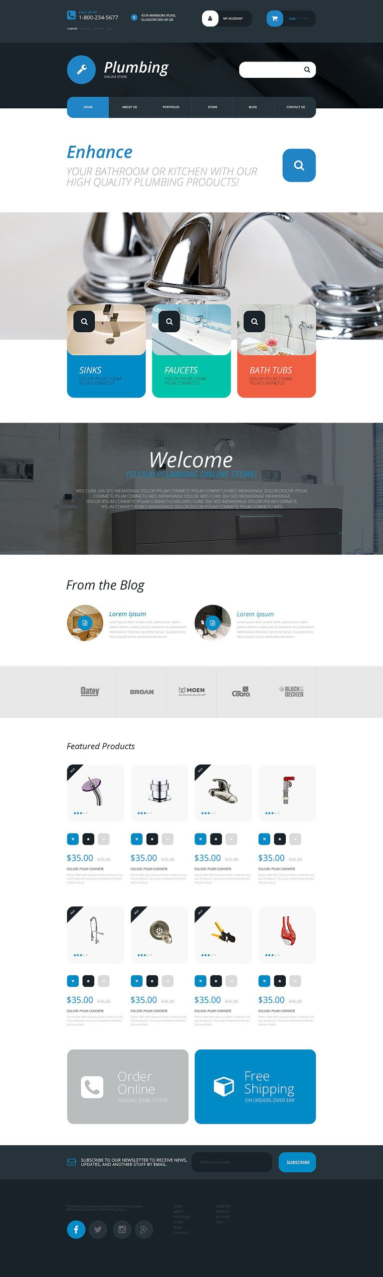 Plumbing Supplies Store WooCommerce Theme New Screenshots BIG