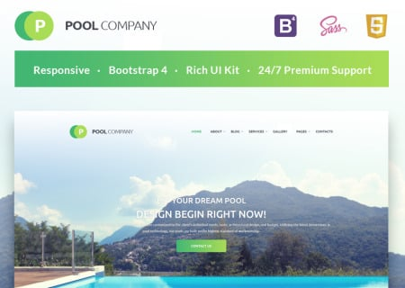 Pool Company Bootstrap
