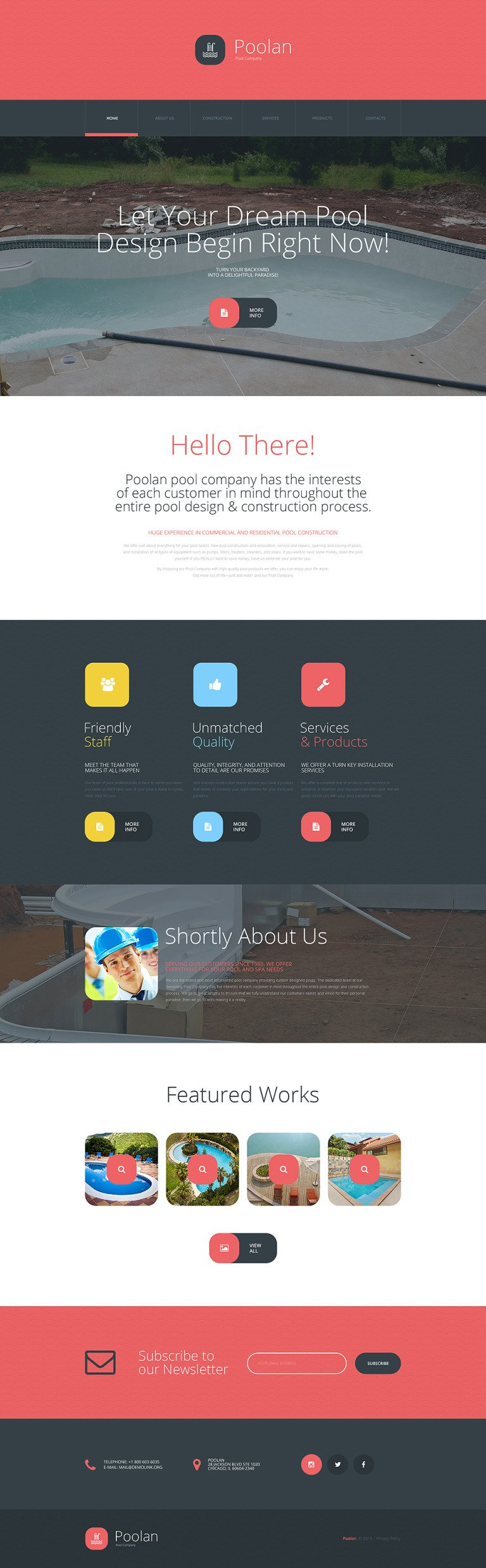 Poolan Website Template New Screenshots BIG