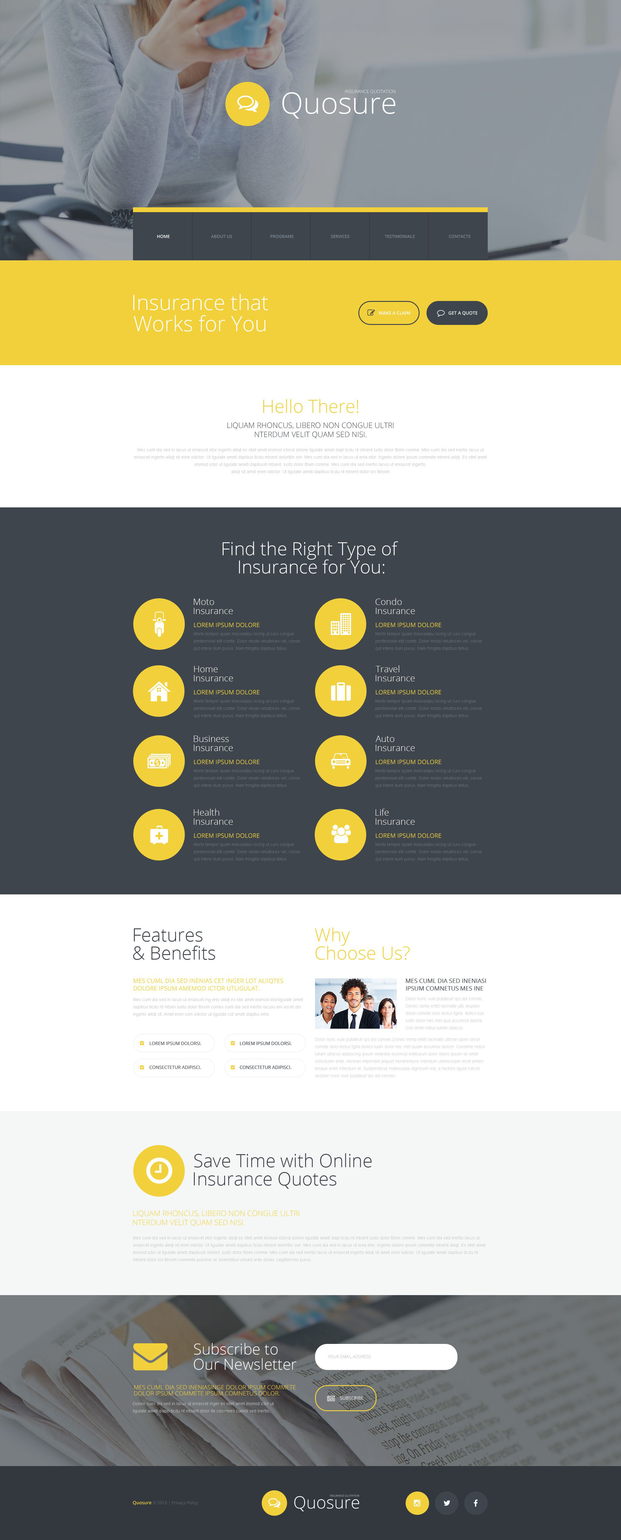 Insurance Website Templates