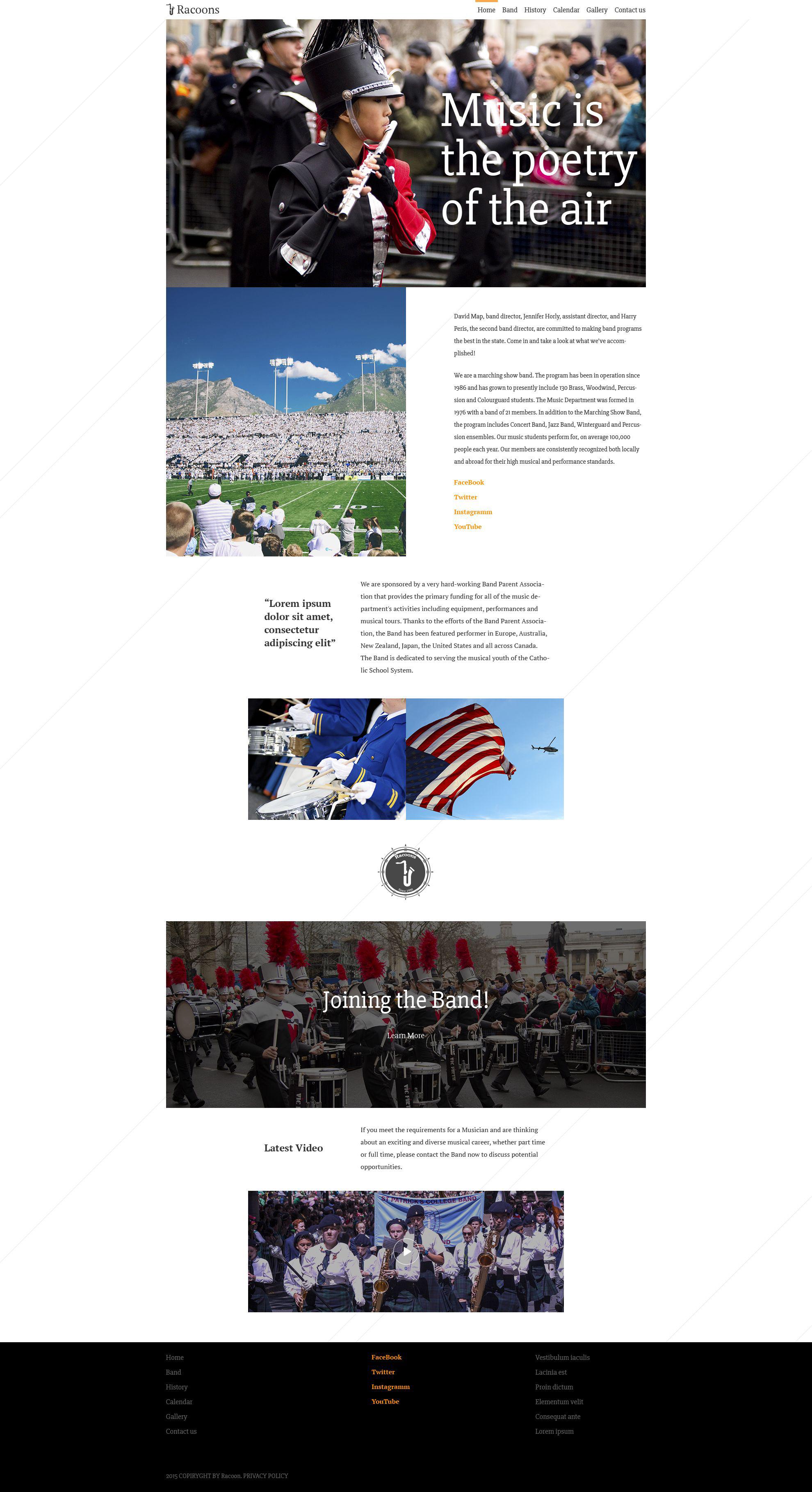 Racoons Website Template