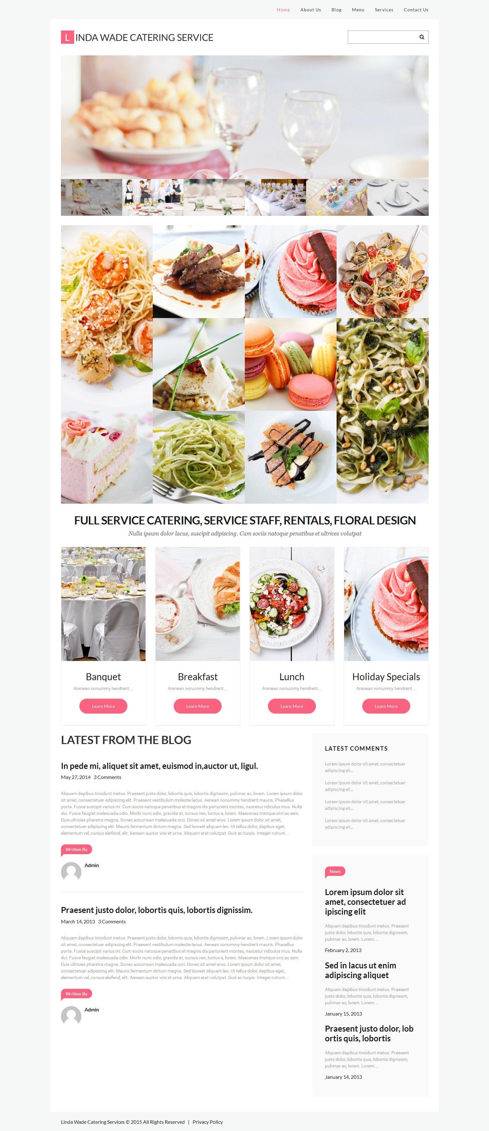 Responsive Catering Wordpress #55455