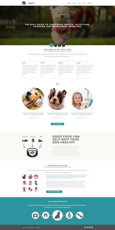 Pet Shop Responsive Moto CMS 3 Şablon