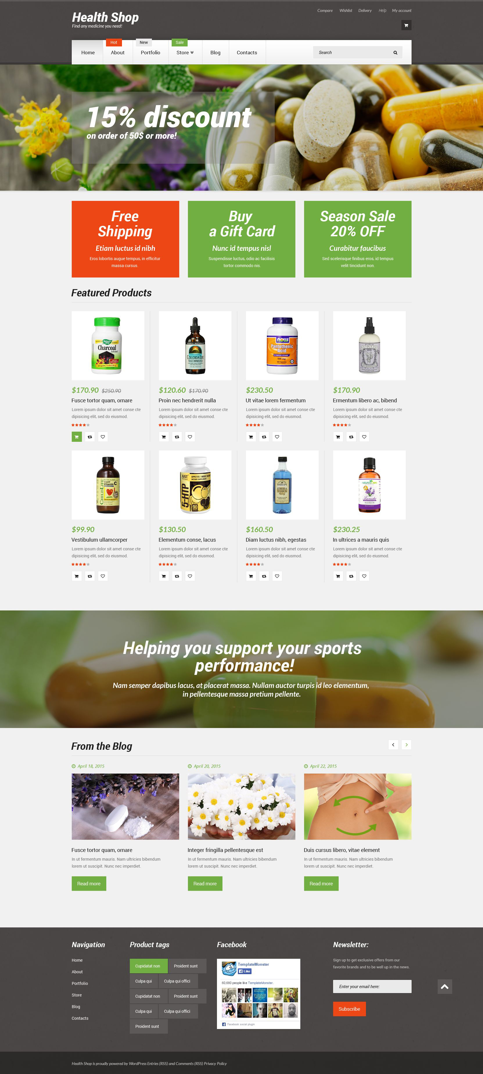 Responsive Health Shop Woocommerce #55428