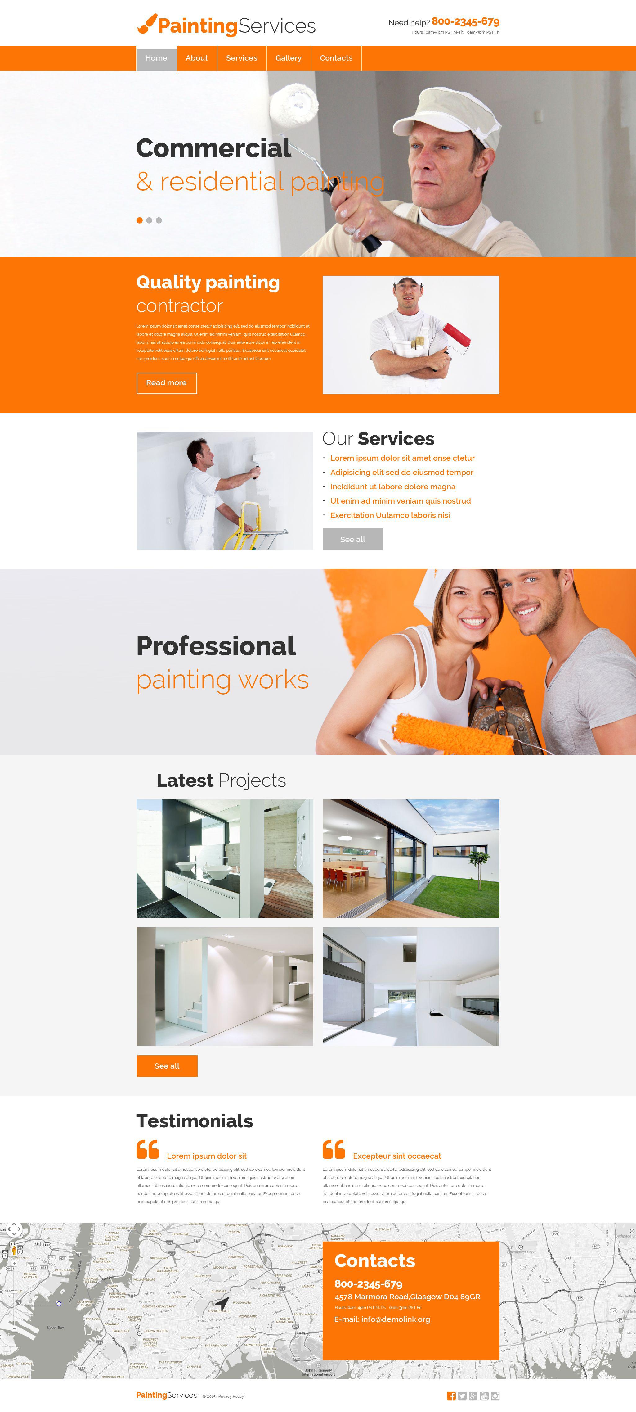 Website Vorlage #55471 für Malerbetrieb