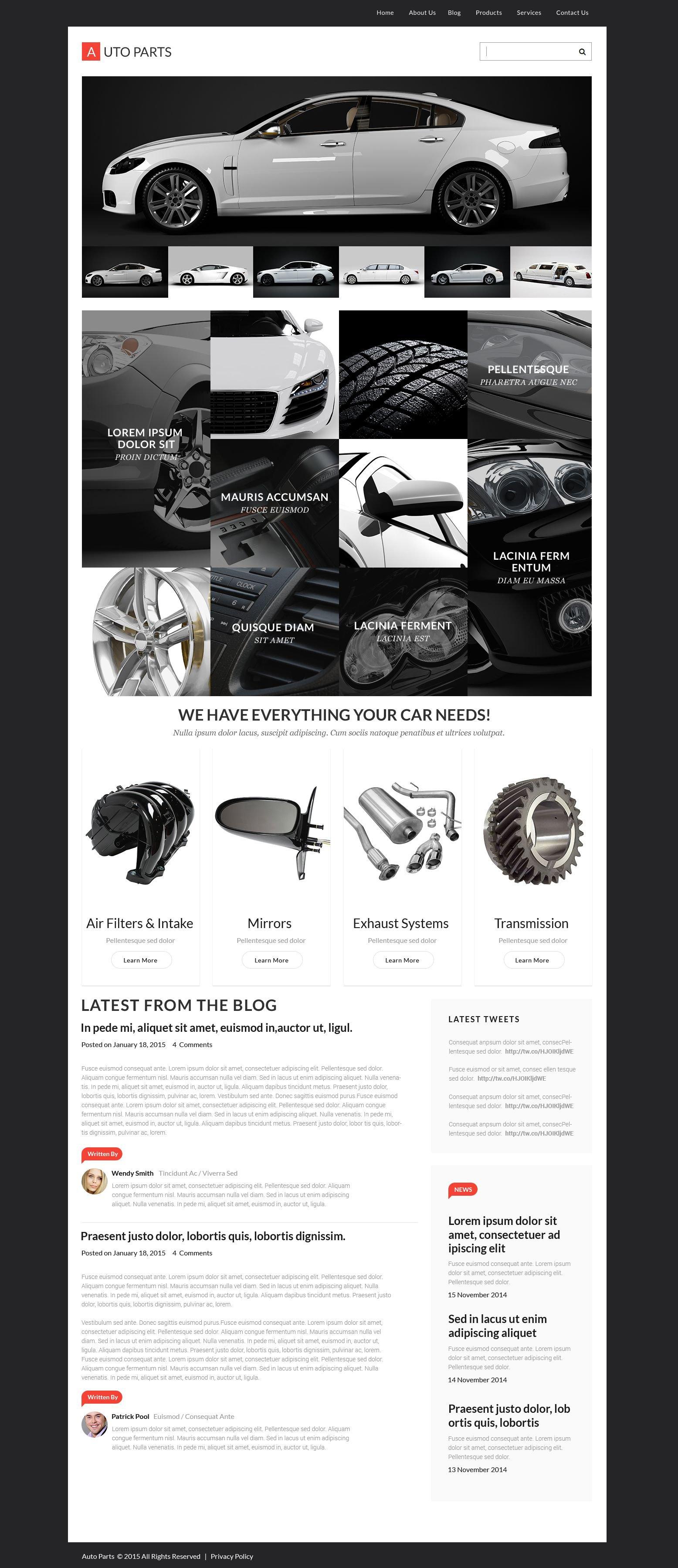 Responsives WordPress Theme für Räder & Reifen #55453