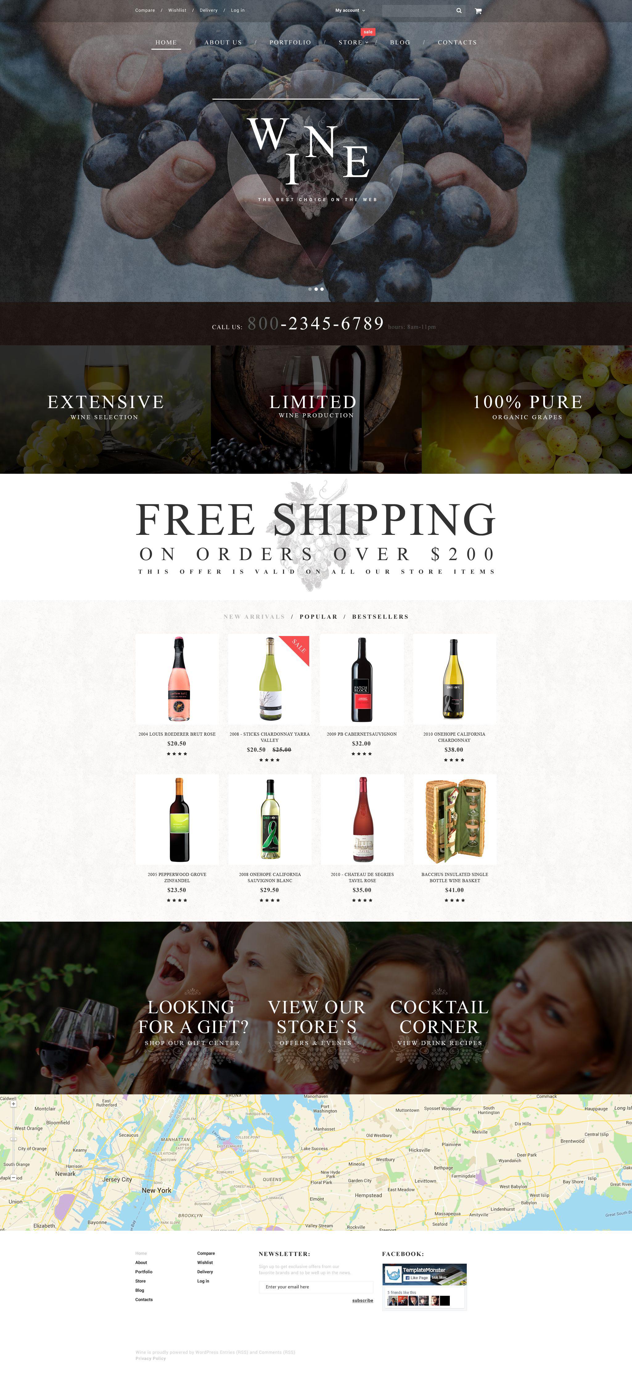 Responsivt Wine WooCommerce-tema #55427