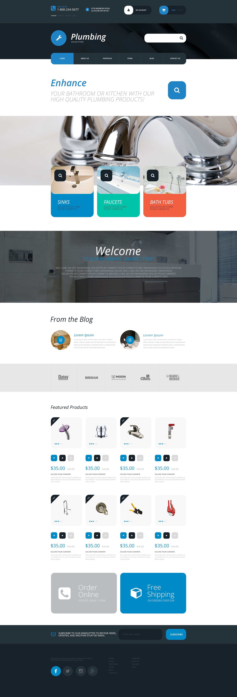 Responsywny motyw WooCommerce Plumbing Supplies Store #55401